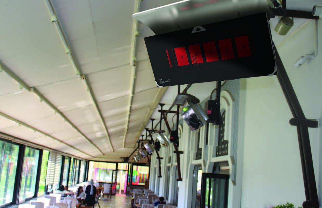 Gufo HG Seramik Radyant Isıtıcı Dekoratif Cafe Isıtma Sistemleri           - 12,5 kW1