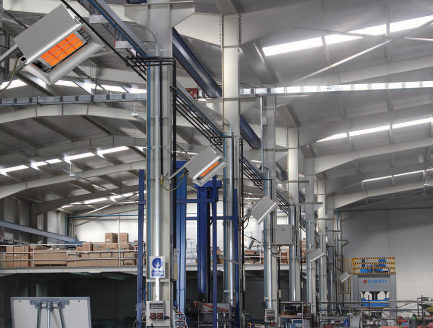 Seramik Plakalı Radyant Isıtıcı - Gufo EKO D25- 48,5 kW TEK KADEMELİ2