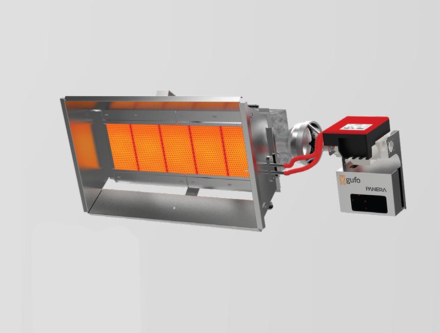 Seramik Plakalı Radyant Isıtıcı - Gufo EKO L5- 11 kW ÇİFT KADEME+KUMANDA