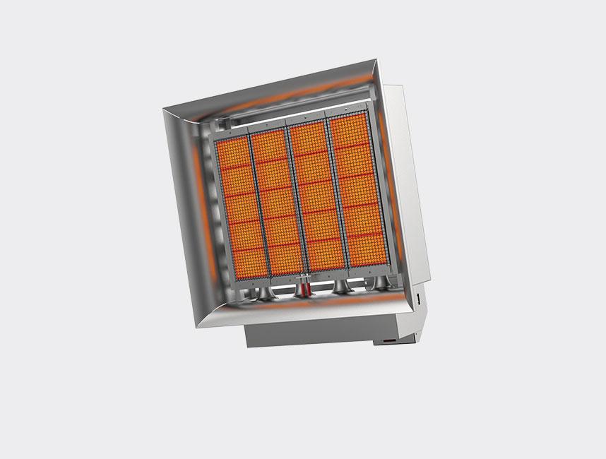 Seramik Plakalı Radyant Isıtıcı - Gufo EKO D20- 39,3 kW TEK KADEMELİ