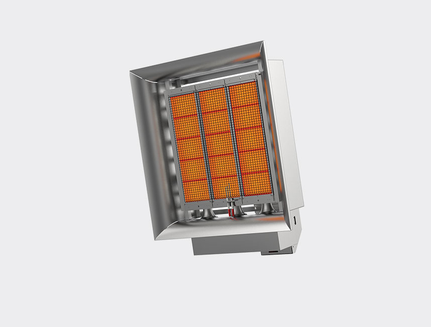 Seramik Plakalı Radyant Isıtıcı - Gufo EKO D15- 30,5 kW ÇİFT KADEMELİ+KUMANDALI