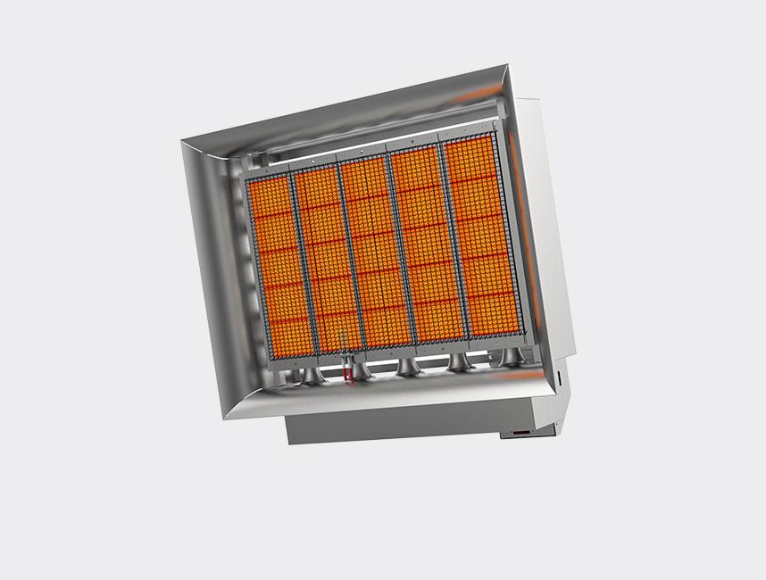 Seramik Plakalı Radyant Isıtıcı - Gufo EKO D25- 48,5 kW ÇİFT KADEMELİ+KUMANDA