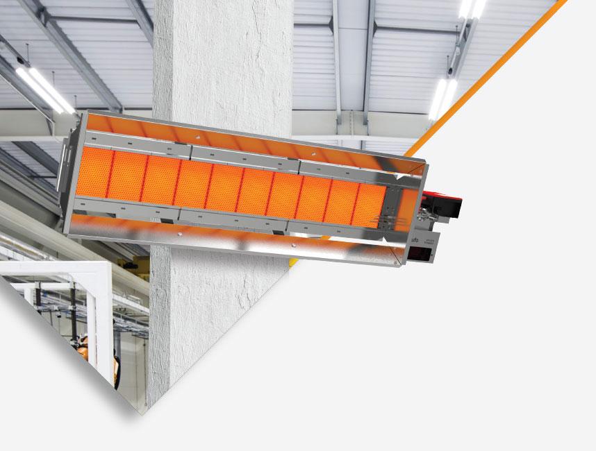 Seramik Plakalı Radyant Isıtıcı - Gufo EKO L18 - 32,1 kW ÇİFT KADEME+KUMANDA
