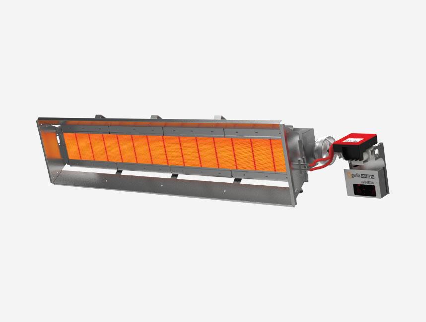 Seramik Plakalı Radyant Isıtıcı - Gufo EKO L14- 26 kW TEK KADEMELİ