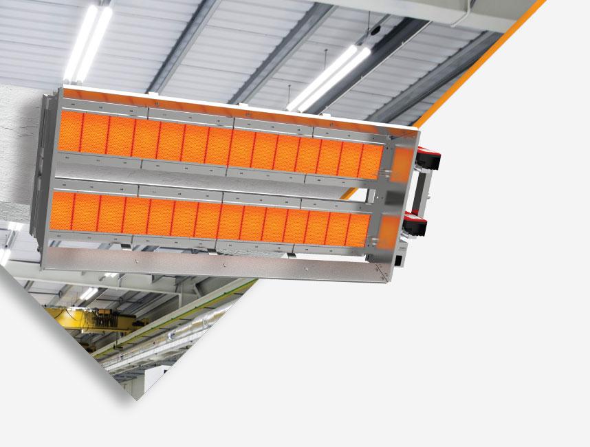 Seramik Plakalı Radyant Isıtıcı - Gufo EKO LD28- 52 kW ÇİFT KADEME+KUMANDA2