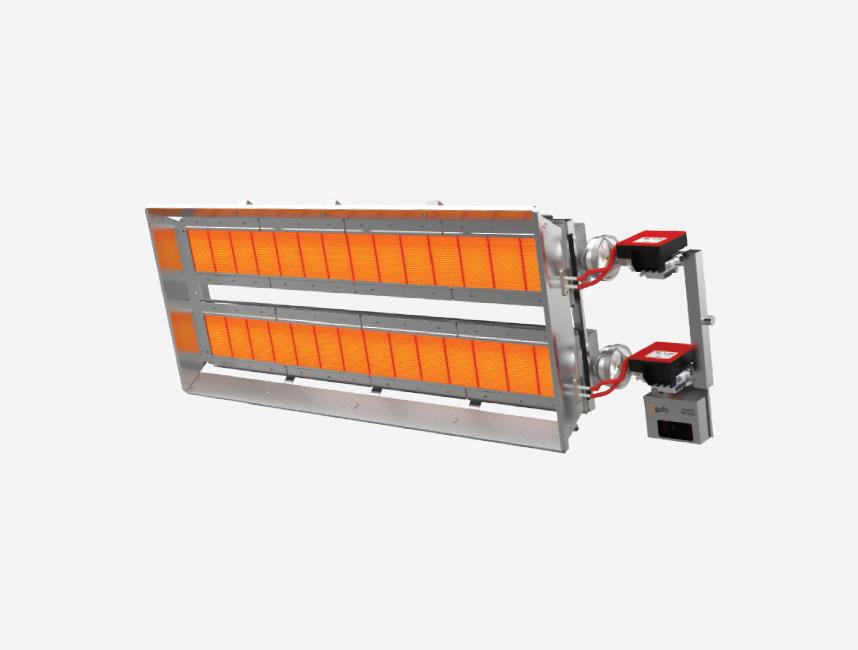 Seramik Plakalı Radyant Isıtıcı - Gufo EKO LD28- 52 kW ÇİFT KADEME+KUMANDA