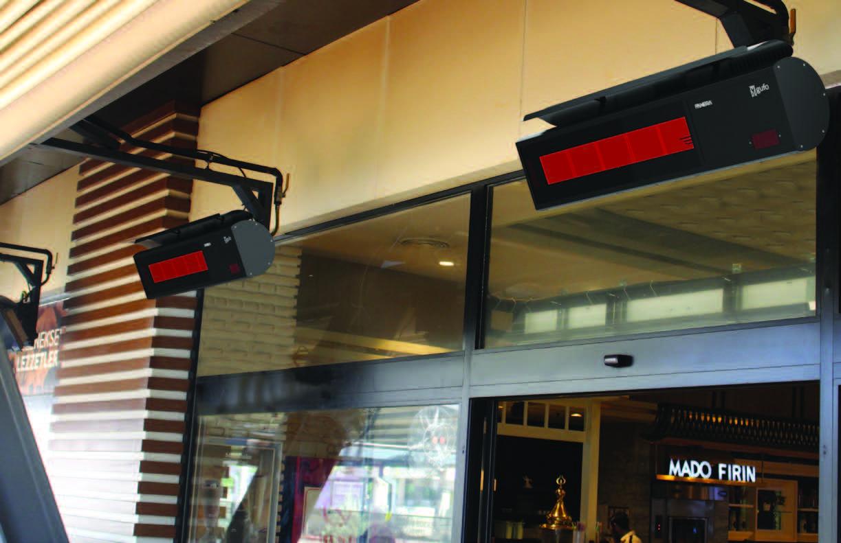 Seramik Plakalı Doğalgazlı Cam Panelli Radyant Isıtıcı - Gufo NG - 11,4 kW3