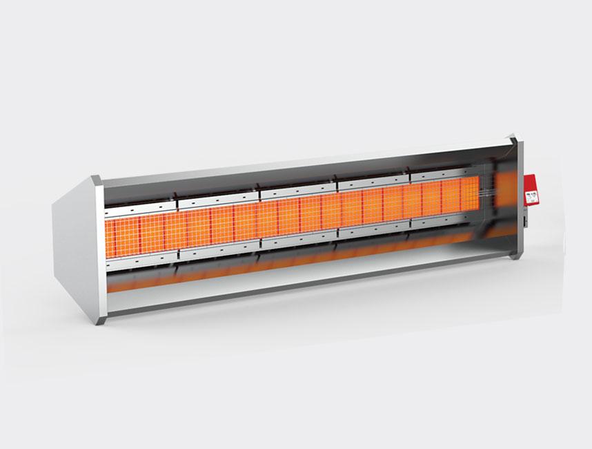 Seramik Plakalı Radyant Isıtıcı - Gufo GP İzolasyonlu - 30 kW ÇİFT KADEME+KUMANDA